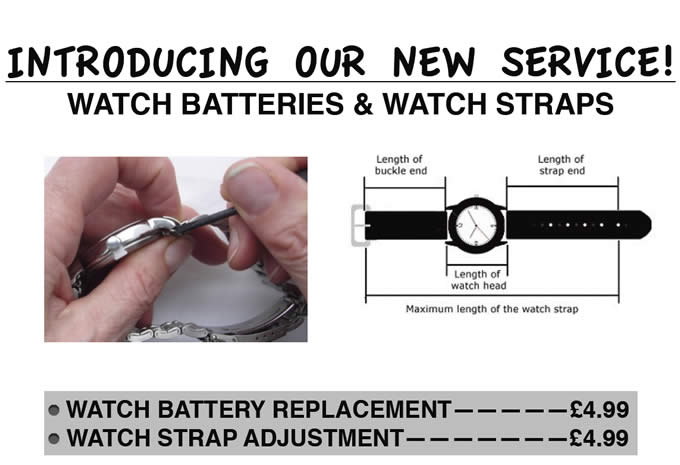 Watch Batteries & Watch Straps